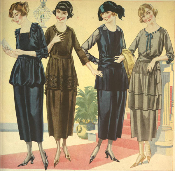 fashion in the 1920s clothing styles trends pictures