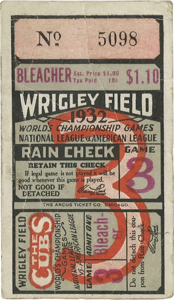 baseball ticket prices in 1930