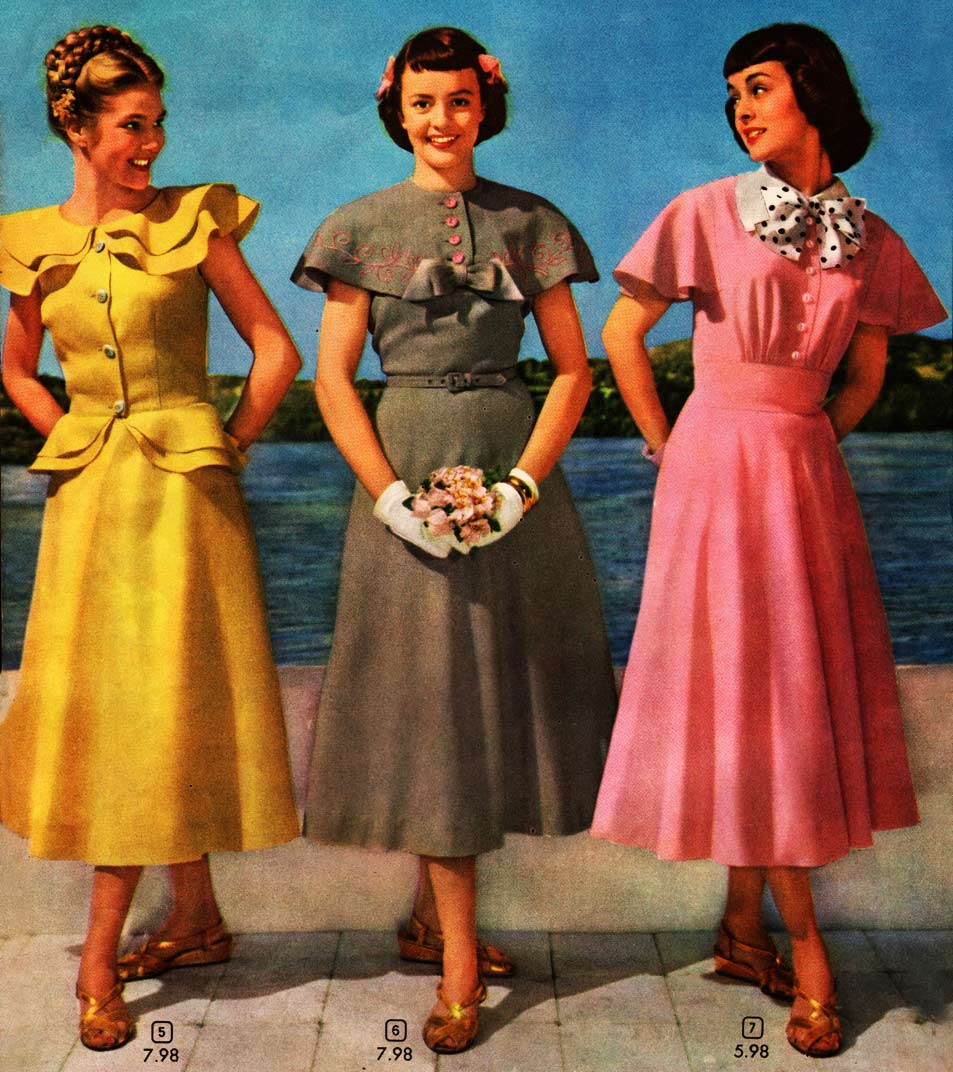 1940s Fashion Women Amp Girls Styles Trends Amp Pictures