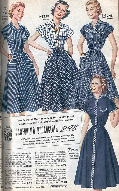 c5128793c 1950s Dresses  From a 1953 catalog