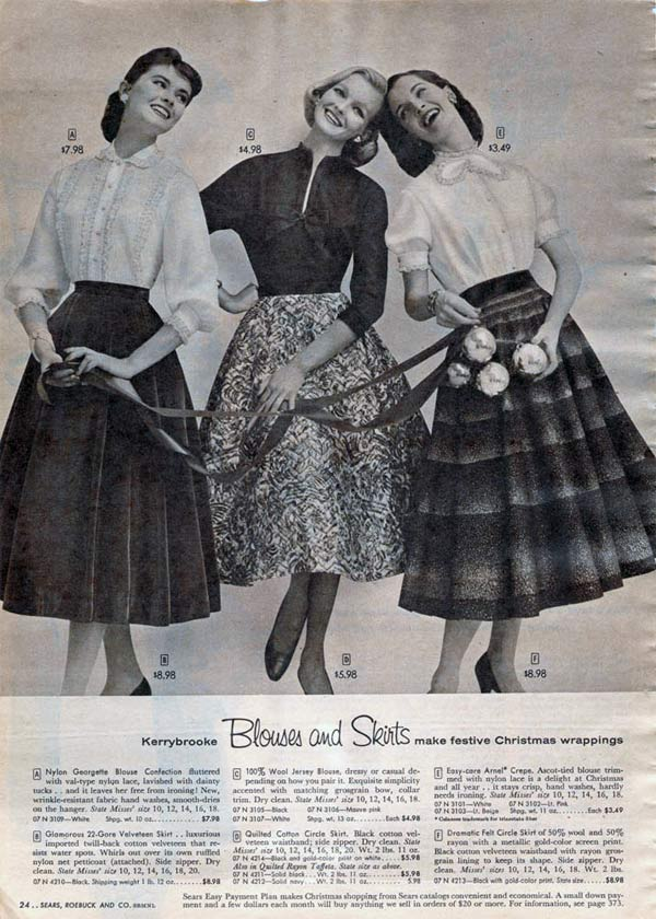 6523483e22b 1950s Skirts  From a 1956 catalog
