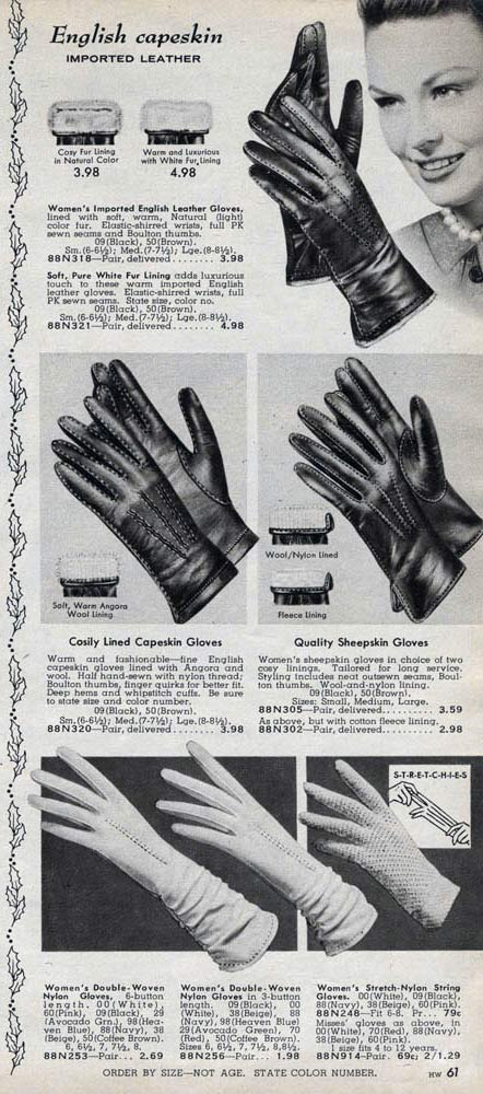 1950s Gloves Etiquette Styles Trends Amp Pictures