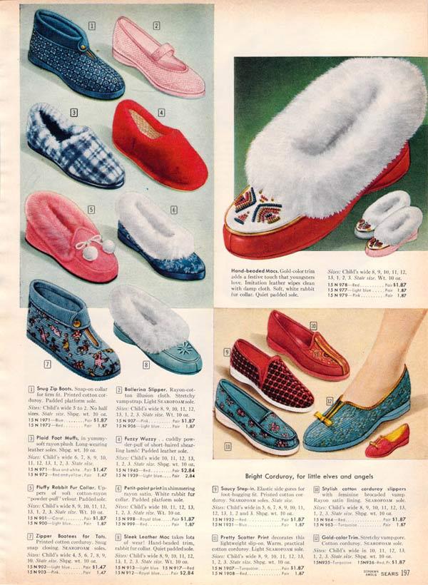 78c5d87c41024 1950s Socks   Slippers  Styles