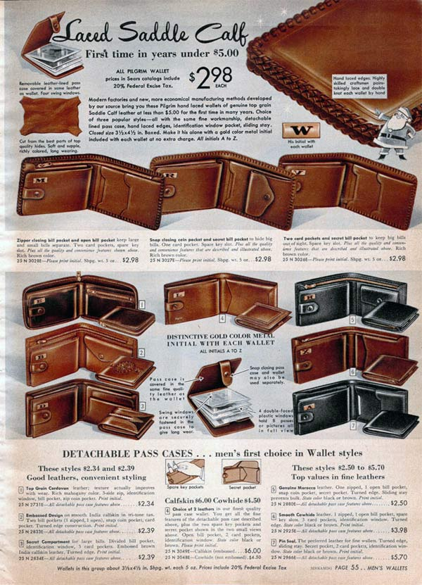 1950s Wallets Styles Trends Amp Pictures