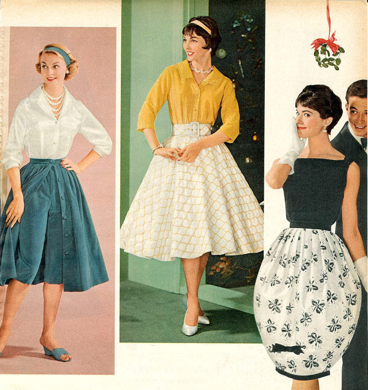 1950s fashion styles trends pictures history