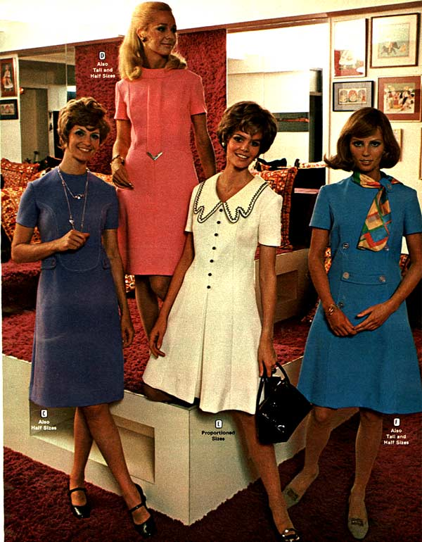 Beautiful 1970 Vintage dresses love stick
