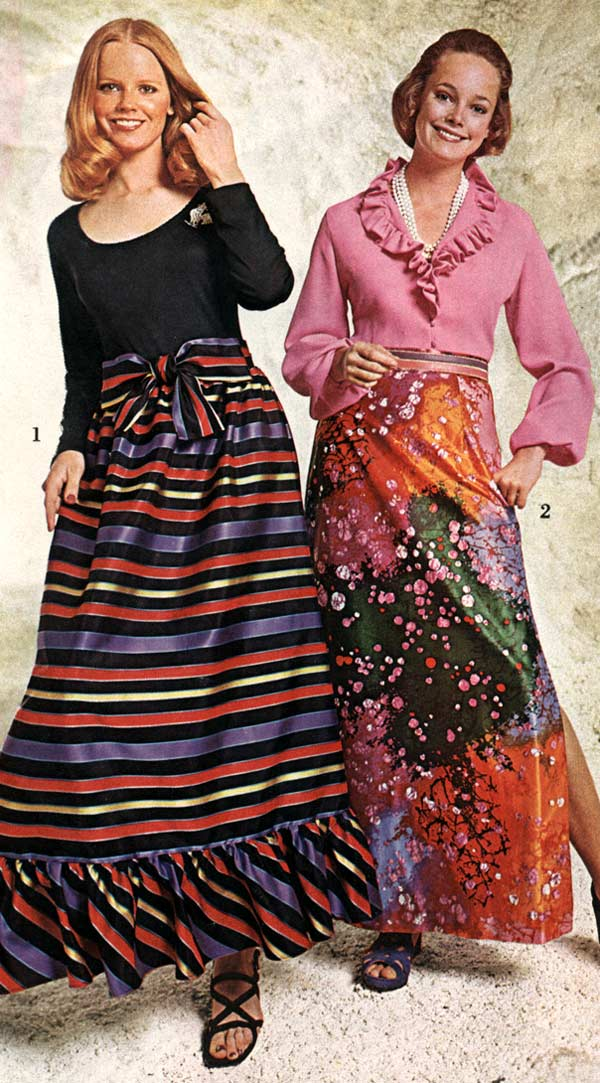 1970s Dresses & Skirts: Styles, Trends & Pictures1970s Womens Fashion Trends