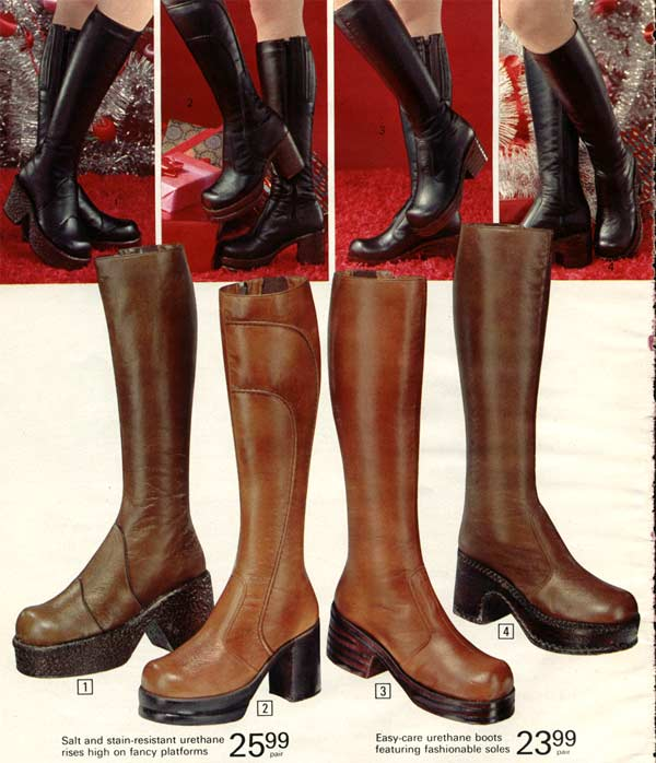 f70a7d5cb82 1970s Boots: Crinkle, Platform, Granny, Stretch Boots & More
