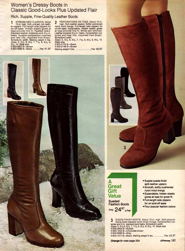 432ad2700a1 1970s Boots: Crinkle, Platform, Granny, Stretch Boots & More