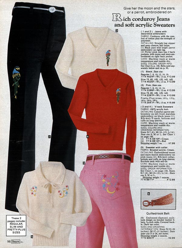Corduroy Jeans and Acrylic Sweaters (1980) 1699babf03