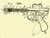 Buck Rogers Pistol design sheet