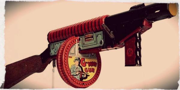 Marx G-Man Tommy Gun