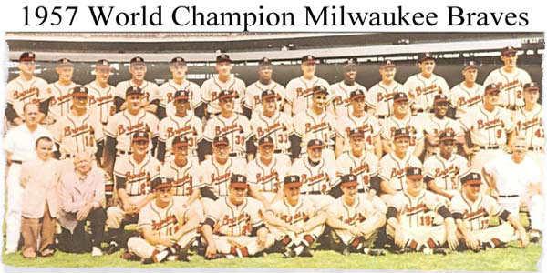 1957 Milwaukee Braves Team Photo