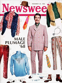1968 Fashion: Newsweek cover: Male Plumage '68