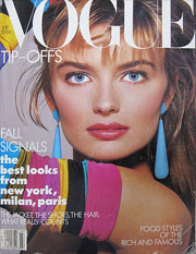 1987 Fashion: Vogue Magazine Cover (July)
