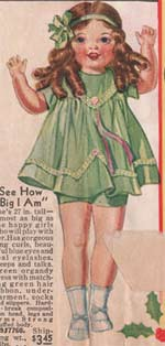 1933 Doll, 27-inches tall