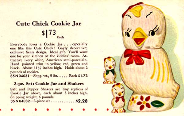 Cute Chick Cookie Jar