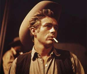 James Dean in the movie Giant