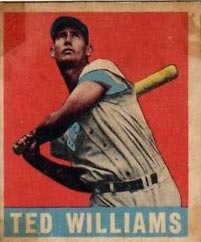 Ted Williams Leaf Baseball Card in 1949