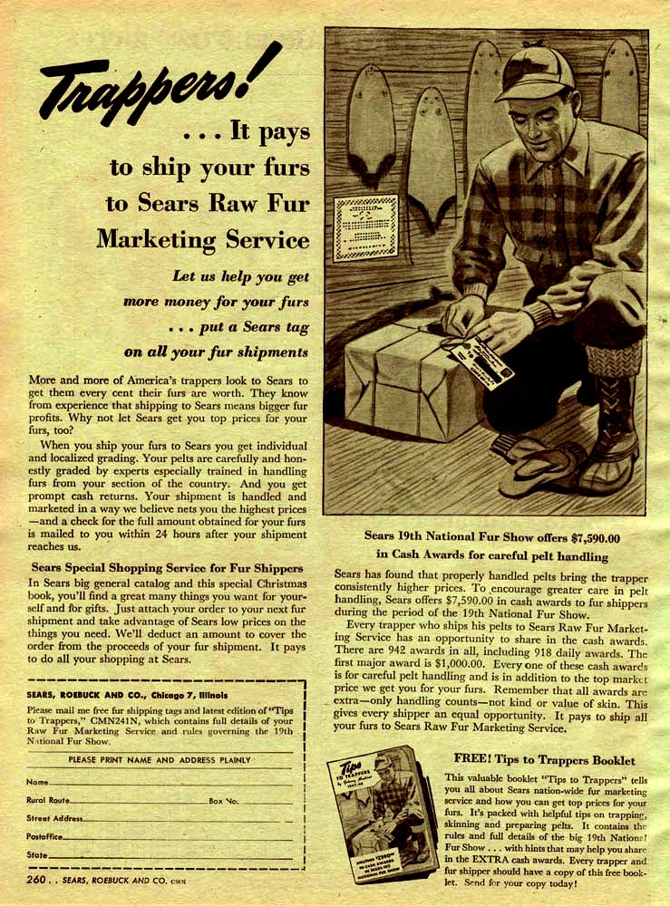 Trappers Send Furs to Sears (1947)