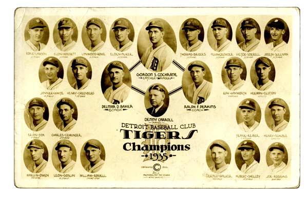 1935 Detroit Tigers Team Photo