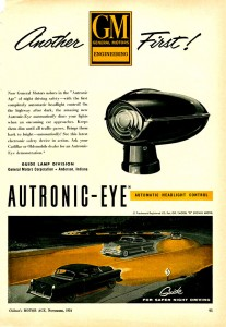 "Advertisement for the new ""Autotronic-Eye"""