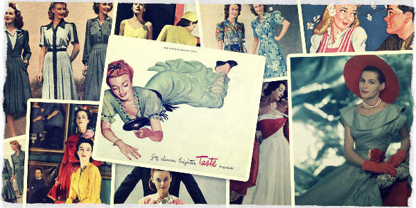 1940s Dresses & Skirts Collage